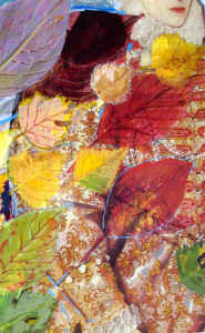 Queen & stormy Autumn, 29 x 19 cm, mixed technique