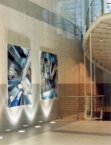 Ausstellung im Atrium der Investitionsbank Berlin, 2005 Exhibition in the atrium of the Investitionsbank Berlin, 2005
